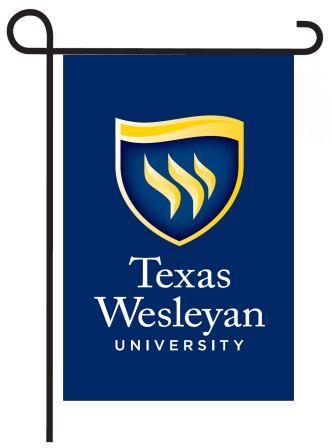 Texas Wesleyan garden flag